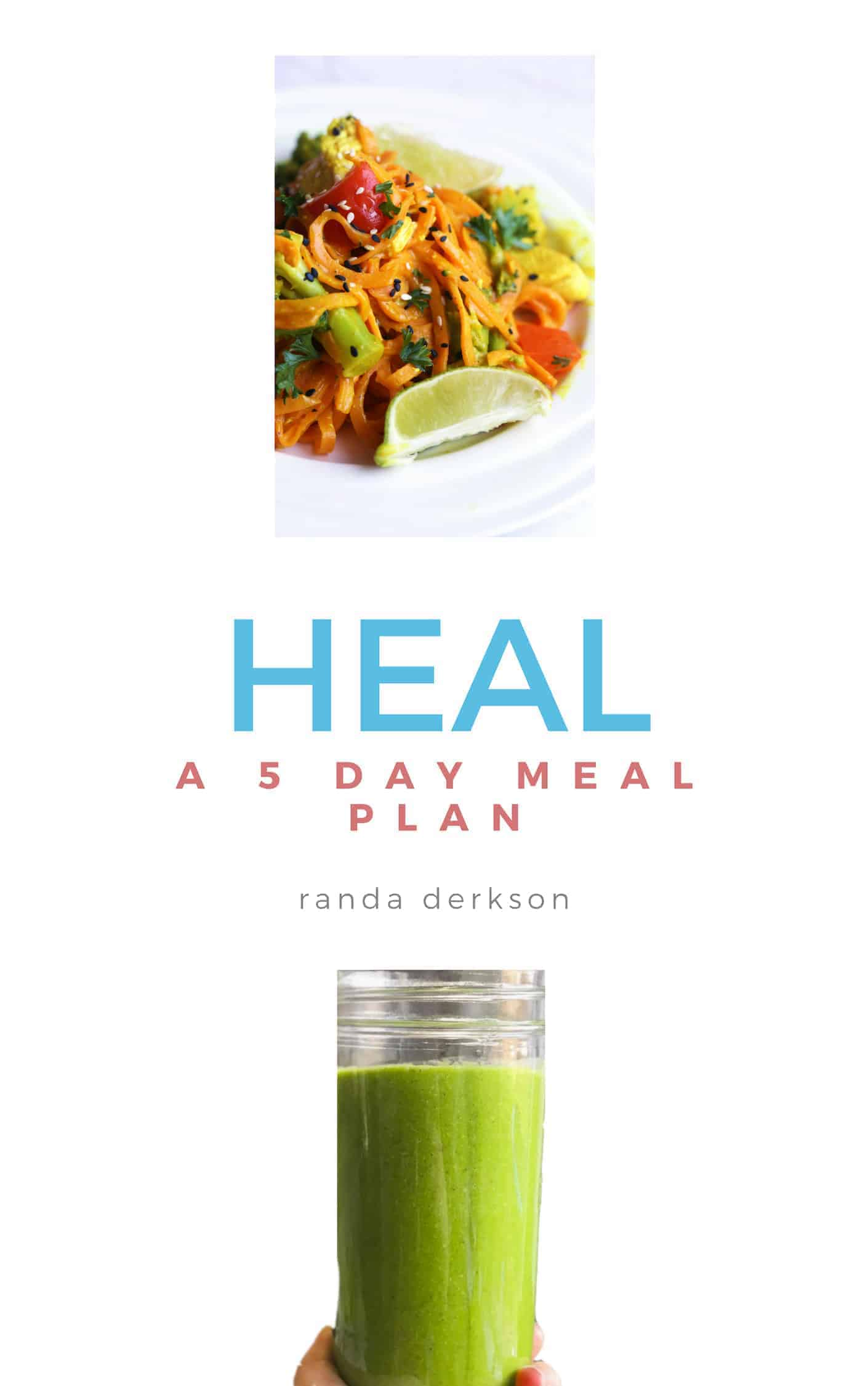 This healing 5 day meal plan is the perfect way to kickstart a healthy diet. Healthy breakfast, lunches, dinners, and snack recipes. Originally created to help with chronic hives, this healthy meal plan serves up anti inflammatory and anti histamine recipes. #mealplan #healthyrecipes