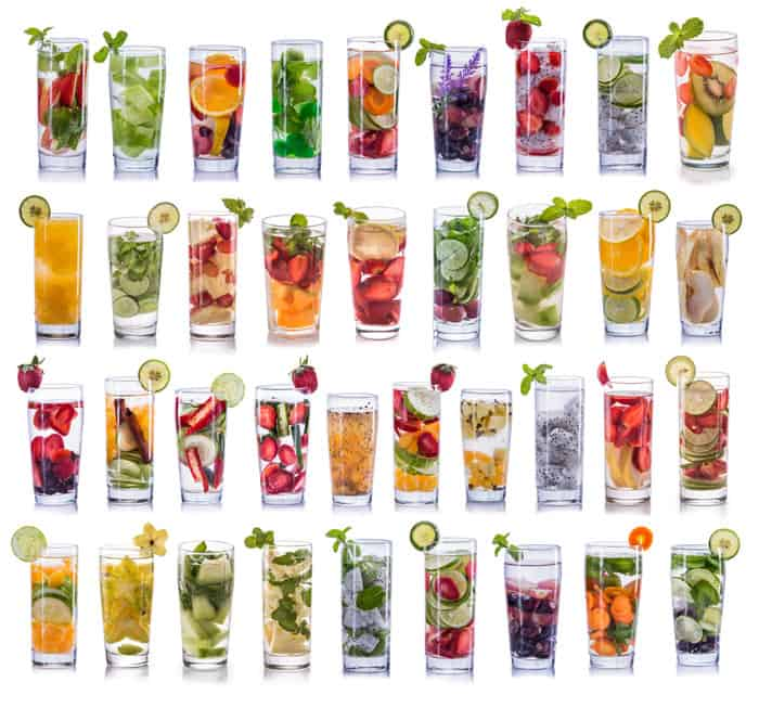 Fruit infused water options and ideas