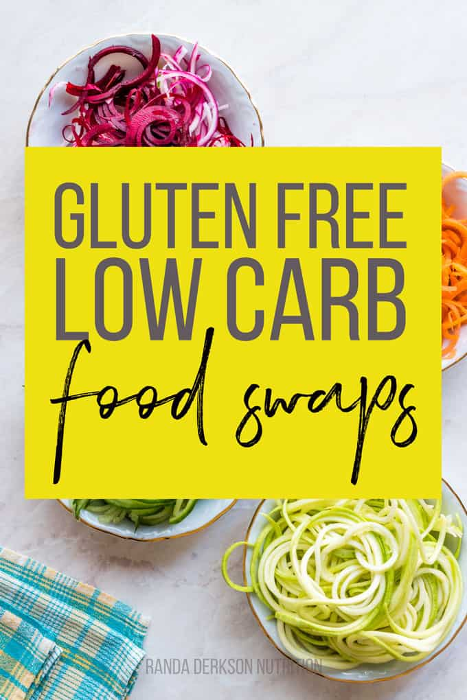 gluten free low carb food swap ideas