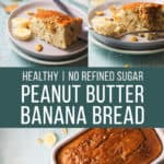 healthy no reined sugar peanut butter banana bread
