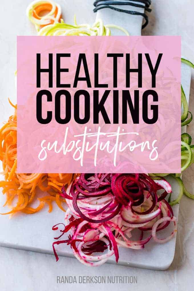 healthy cooking substitutions
