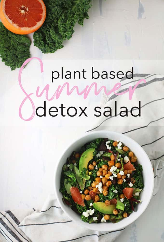 Plant based protein summer detox salad completely with superfoods to nourish your body