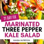 21 day fix three pepper salad kale