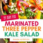 21 day fix marinated three pepper salad recipe