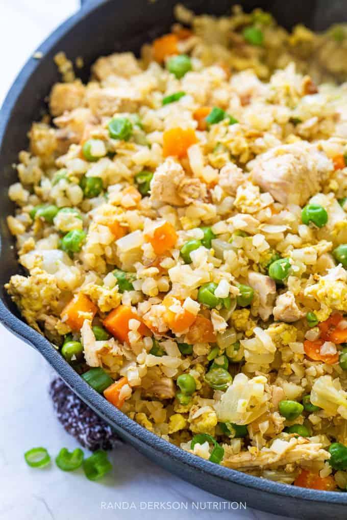 cauliflower rice fried rice recipe