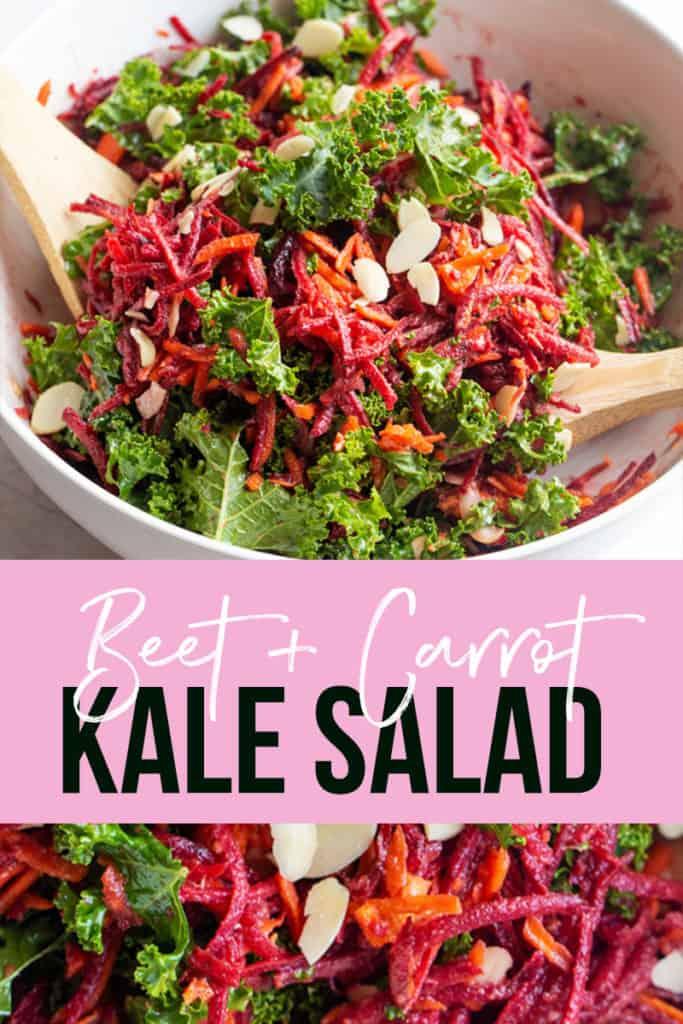 easy kale beet carrot salad