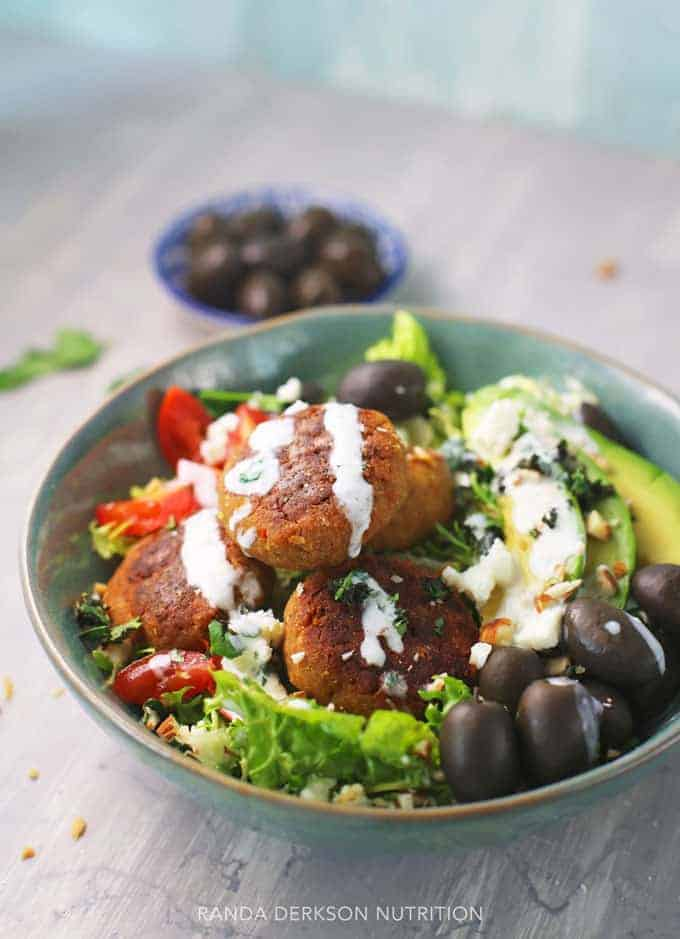 mediterranean salad recipe with plant based protein
