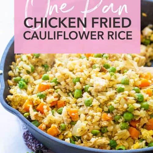 one pan chicken fried cauliflower rice