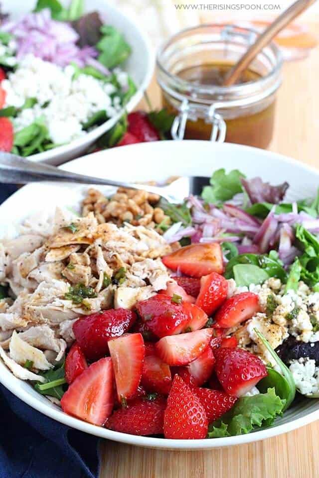 strawberry chicken salad from The Rising Spoon