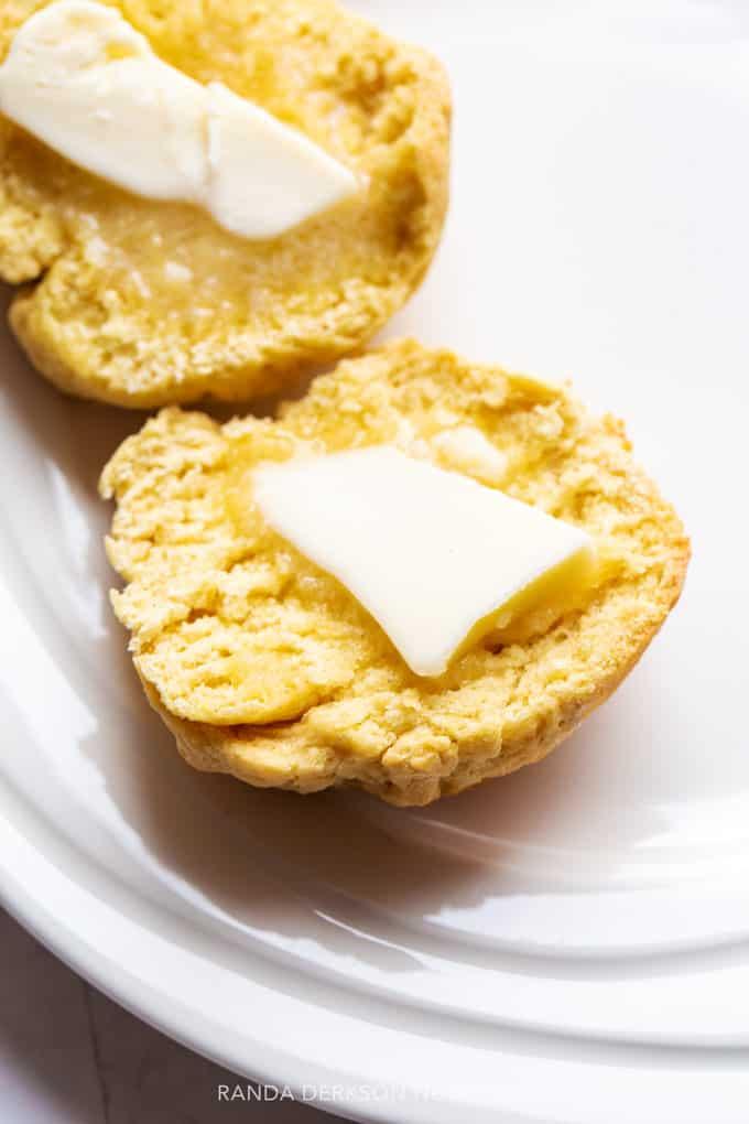 gluten free homemade buns with butter