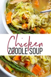 spiralized chicken zoodle soup recipe