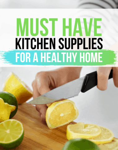 healthy kitchen supplies