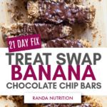 21 Day Fix Banana Chocolate Chip Bars
