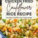 healthy chicken cauliflower rice recipe
