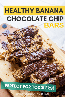 healthy banana chocolate chip bars