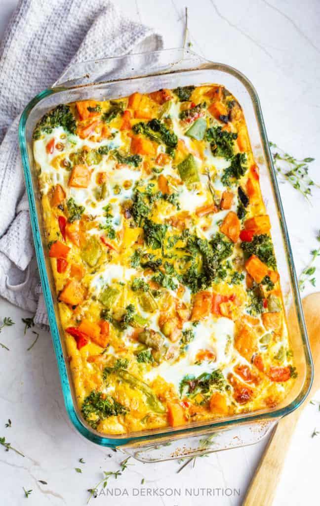 healthy egg casserole breakfast for dinner