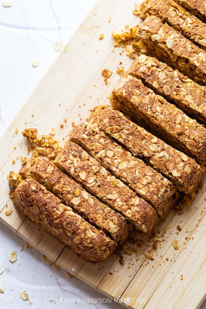sliced pumpkin breakfast bars