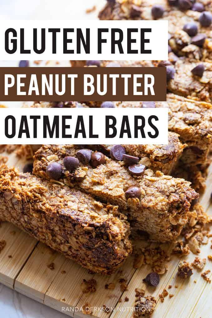 gluten free peanut butter oatmeal bars
