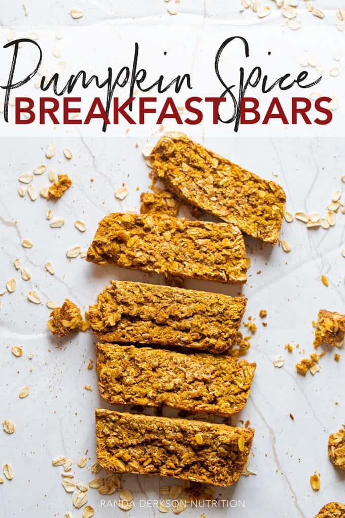 pumpkin spice breakfast bars
