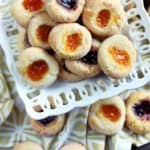 flourless almond thumbprint cookies