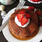 vegan gluten free gingerbread pancakes