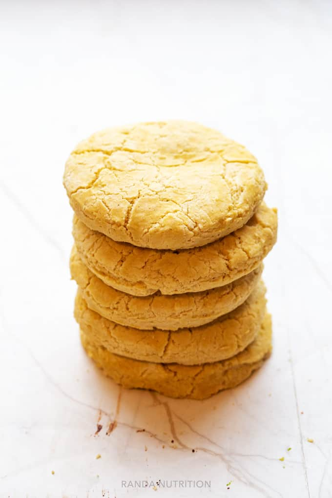 homemade gluten free biscuits stacked