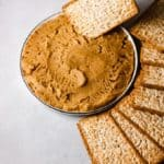 gingerbread hummus dip with graham crackers