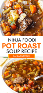 Ninja Foodi Beef Vegetable Soup Recipe