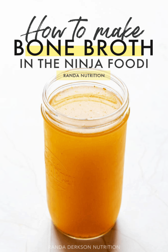 bone broth in a mason jar