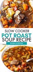slow cooker pot roast soup recipe