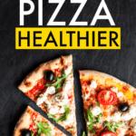 healthy pizza slice with veggies