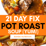 21 day fix pot roast soup