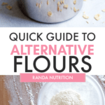 quick guide to alternative flours