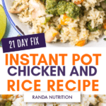 21 day fix chicken and rice