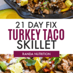 21 day fix turkey taco skillet