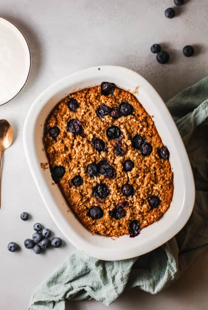 blueberry oatmeal oven bake