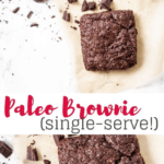 healthy single serve brownie recipe