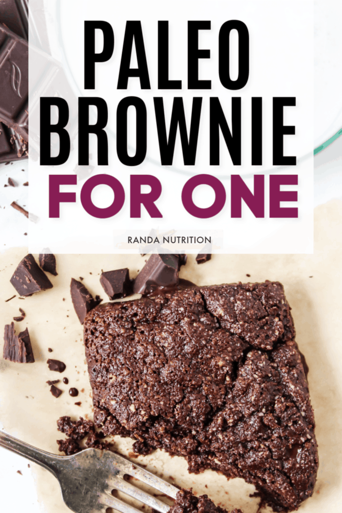 paleo brownie for one