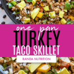one pan turkey taco skillet