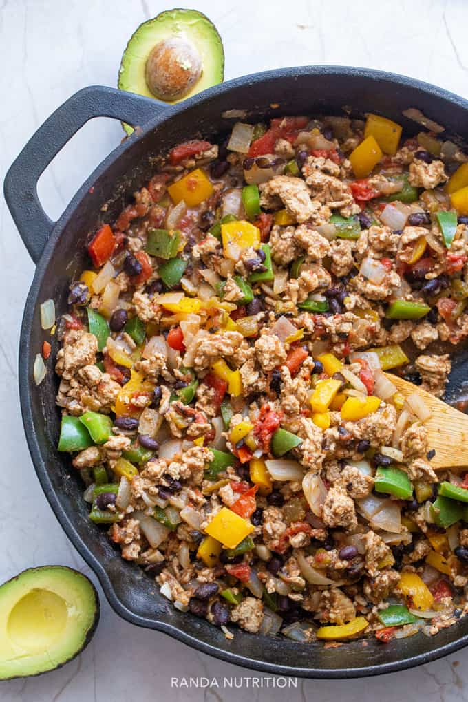 healthy turkey taco skillet