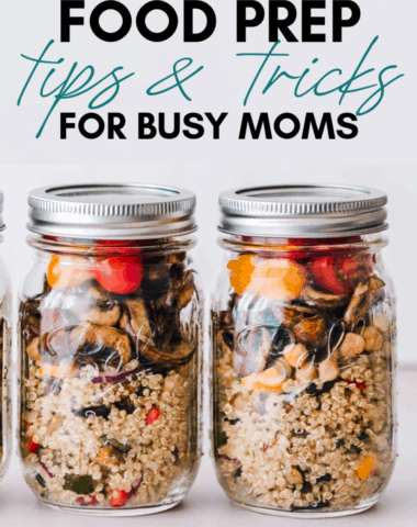 food prep tips for busy moms