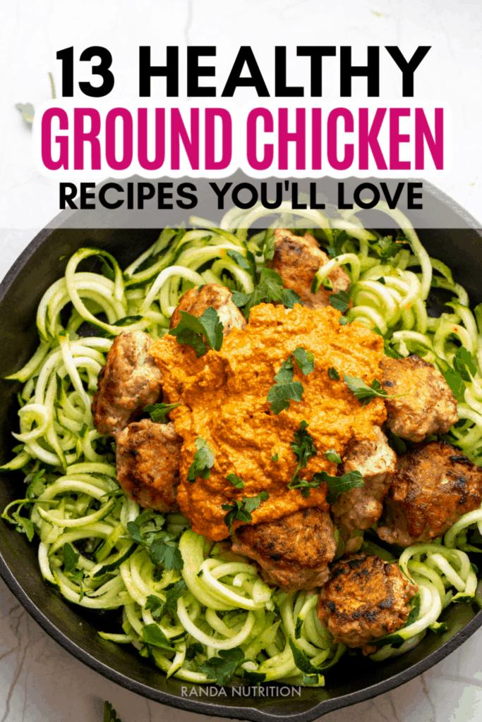 healthy ground chicken recipes