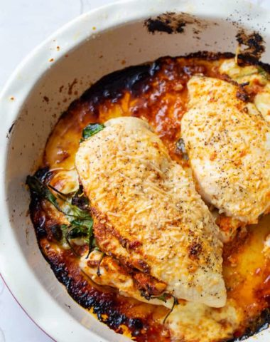 Romesco Stuffed Chicken Breasts