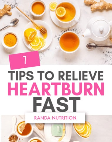 7 tips to relieve heartburn fast