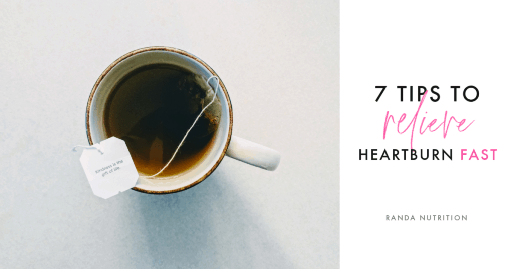 relieve heartburn fast with tea