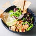 easy fajita tofu bowls recipe