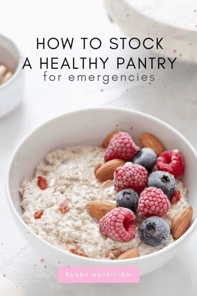 healthy pantry for emergencies