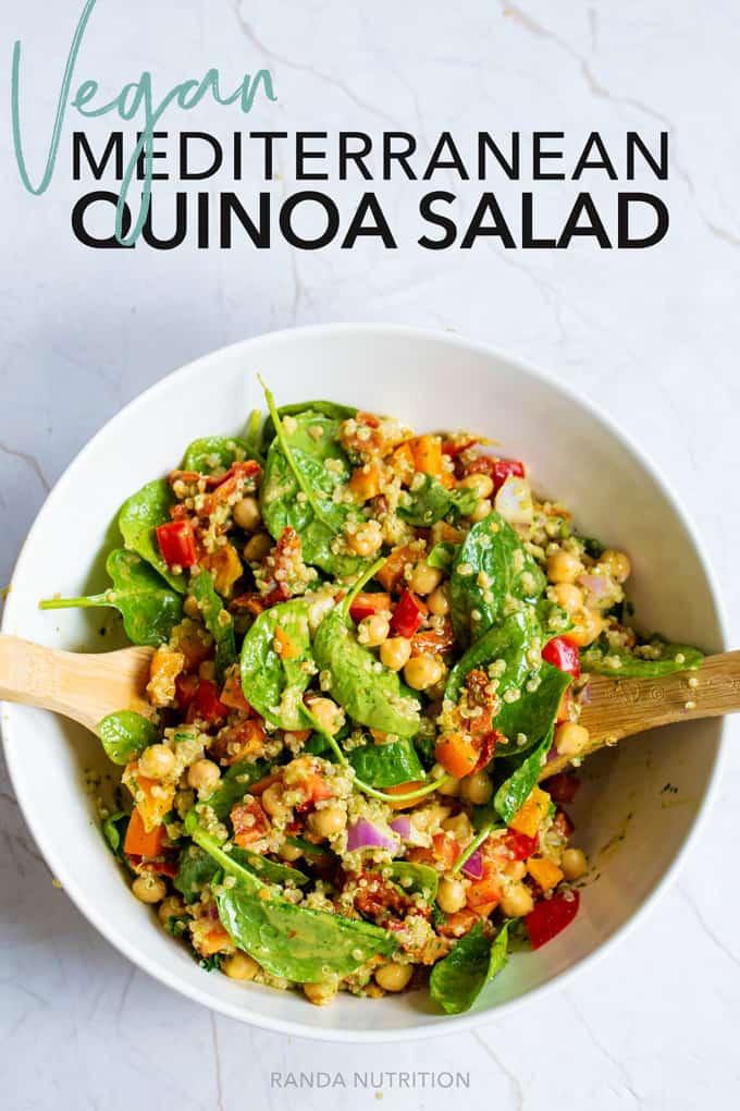vegan mediterranean quinoa salad recipe