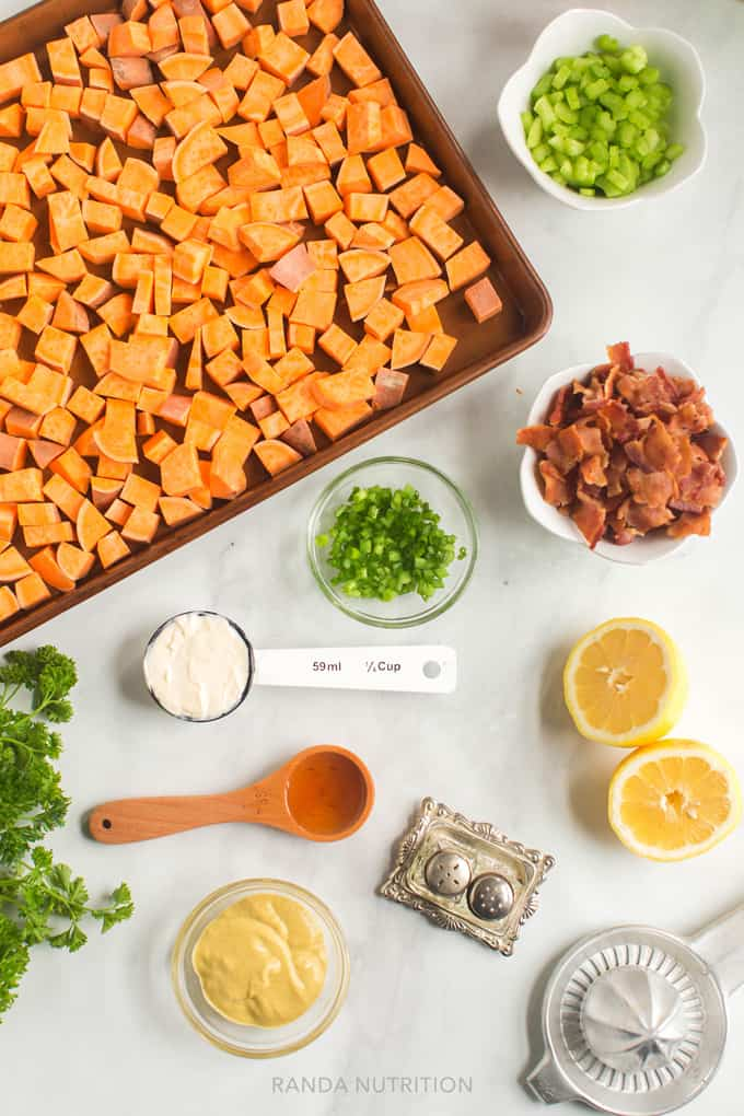 how to make sweet potato salad