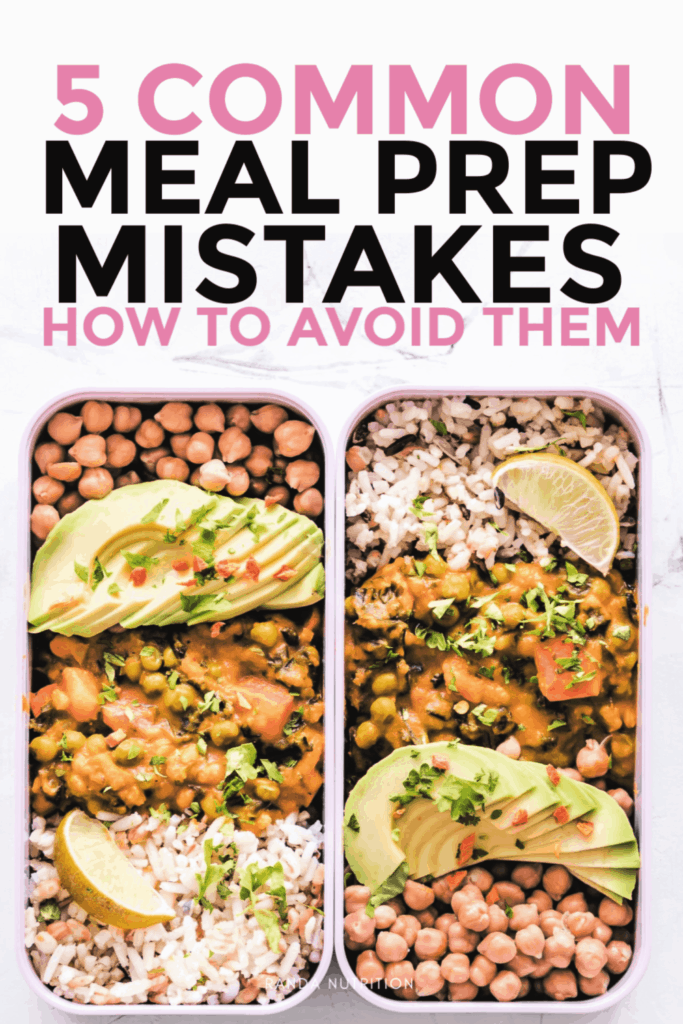 meal prep mistakes
